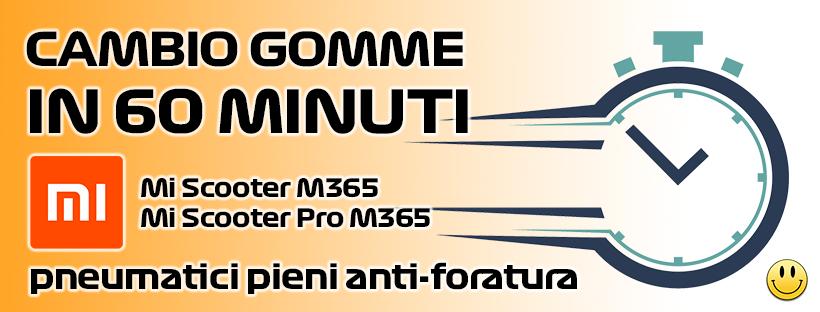 """cambio gomme piene anti foratura xiaomi m365 8,5"""" pollici"""