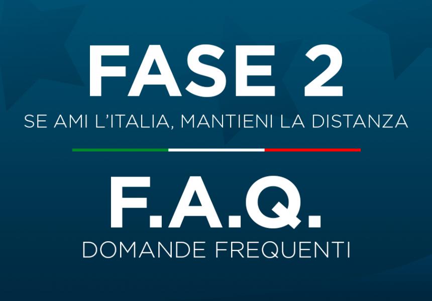 faq fase 2 coronavirus governo italiano